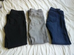 Three pair pants