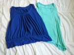 Two sleeveless tops.